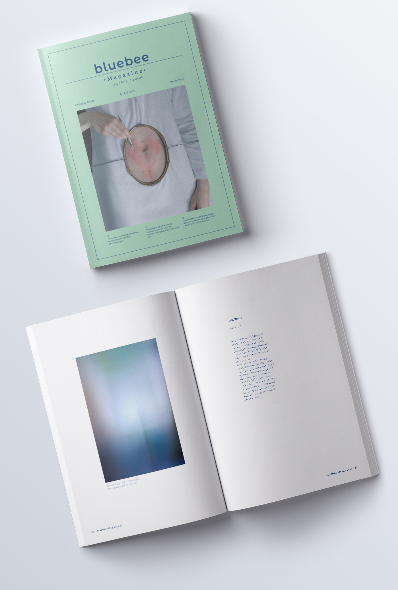 Art magazine on white background